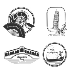 Italy country set label vector image vector image