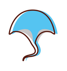 Marine stingray isolated icon vector