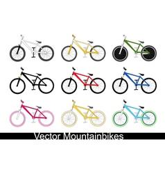 Mountain bikes vector
