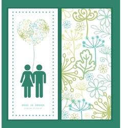 mysterious green garden couple in love vector image