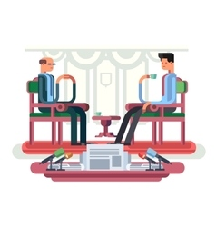 Politician interview flat design vector image
