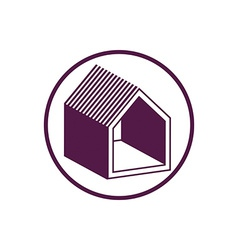 Real estate icon abstract house depiction Property vector image vector image