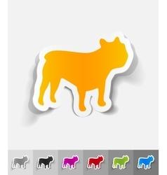 Realistic design element french bulldog vector