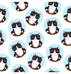 Seamless pattern of the siamese cat vector