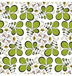 seamless pattern with leaves ornament vector image vector image