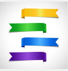 set of colored decorative arrow labels vector image