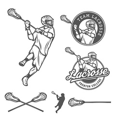 Set of lacrosse design elements vector image