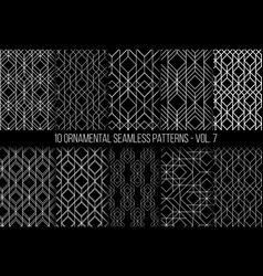 set of universal different geometric seamless vector image vector image