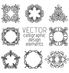 Set of various design elements and page vector image vector image