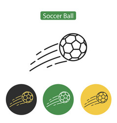 soccer ball icon or sign vector image vector image