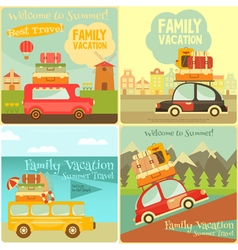 travel cards vector image vector image