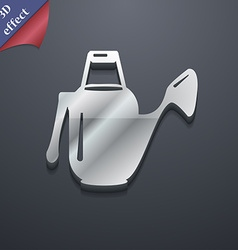 Watering can icon symbol 3D style Trendy modern vector image
