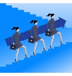 Women power business concept vector