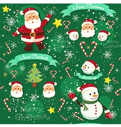 Seamless Pattern Christmas Green vector image