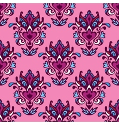 Damask seamless pattern floral design vector