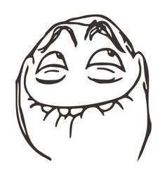 Happy lol guy meme face for any design vector