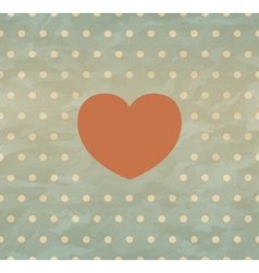 Retro background with heart vector image