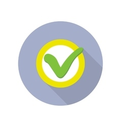 Strategic management web button with check sign vector