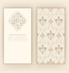 Invitation cards with ethnic vector