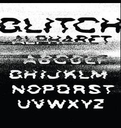 Glitch alphabet no signal background error vector