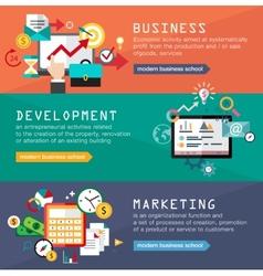 Set banners for web design digital marketing vector