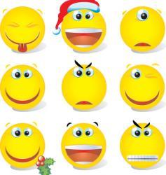 smiley set vector image