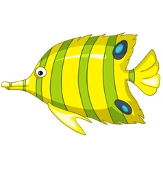 Cartoon character fish vector
