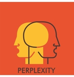 Perplexity line icon with flat design elements vector