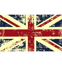 Grunge flag of great britain vector