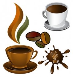 Cups of coffee vector