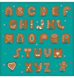 Festive font funny cookies vector