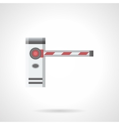 Striped barrier flat color icon vector