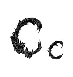 Abstract letter c logo icon black and white design vector