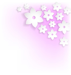abstract white flowers vector image vector image