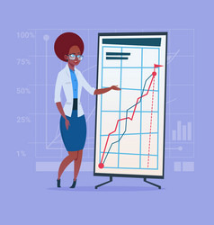 african american business woman with flip chart vector image vector image
