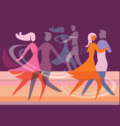 Ballroom dancing couples vector