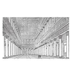 Basilica distinct applications in modern english vector