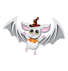 Bat halloween hat on a white background vector image vector image