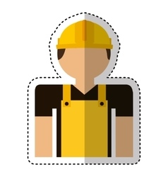Builder avatar character icon vector