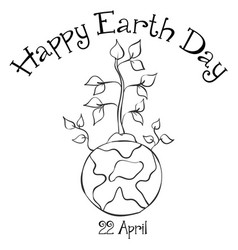 Collection happy earth day design vector