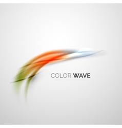 Color wave element vector image