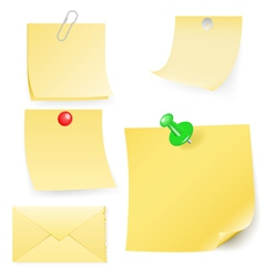 Disrupt envelope and post-it collection vector