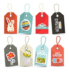 Easter Isolated Tags - Labels with String Set vector image