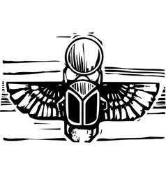 Egyptian Winged Scarab vector image vector image