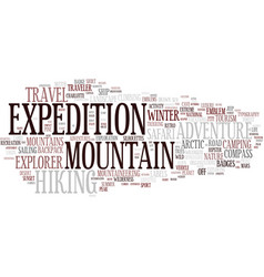 Expedition word cloud concept vector