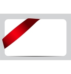 Gift Card with Red Ribbon vector image vector image