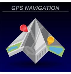 Global Positioning System navigation vector image