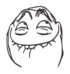 happy lol guy meme face for any design vector image vector image