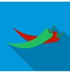 Hot chili pepper icon flat style vector