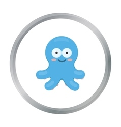 Octopus cartoon icon for web and vector